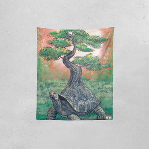 "Bonsai Tortoise Tapestry 51""x60"""