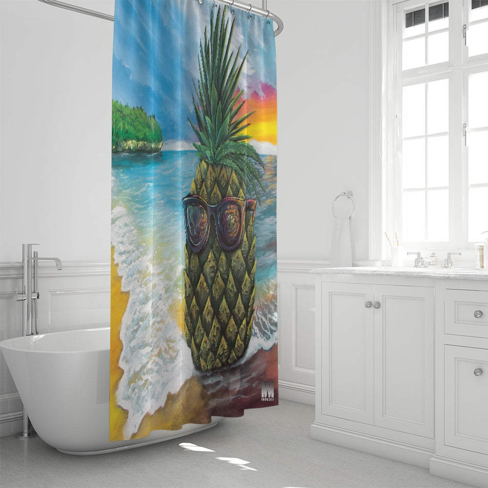 Pineapple Daze Shower Curtain 72