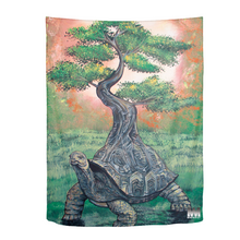 "Load image into Gallery viewer, Bonsai Tortoise Tapestry 60""x80"""