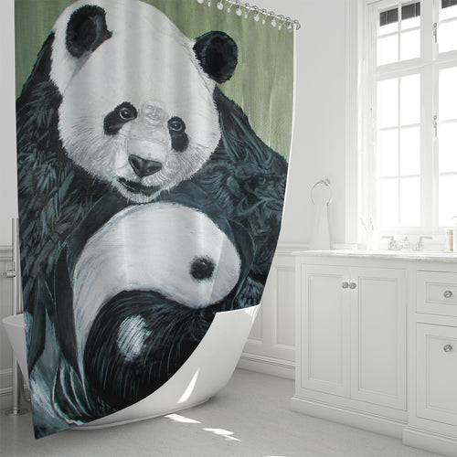 Morphed Panda Shower Curtain 72