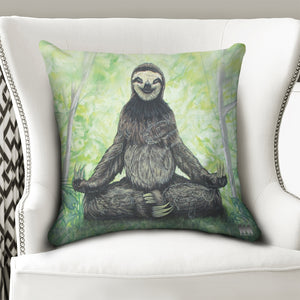 "Sloth Nation Throw Pillow Case 20""x20"""