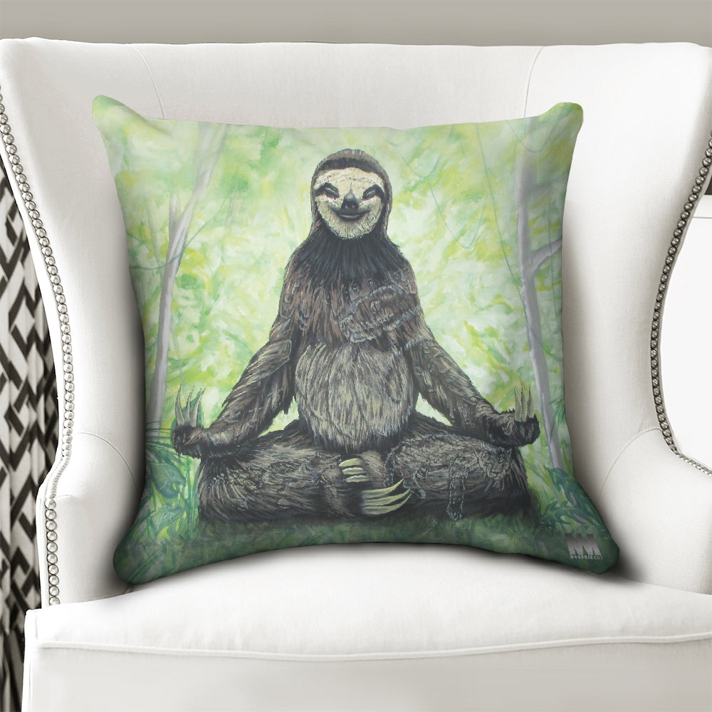 Sloth Nation Throw Pillow Case 20