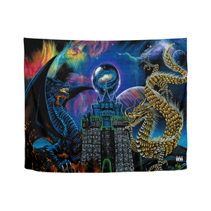 "Kosmic Dragon Bass Kingdom Tapestry 60""x51"""