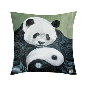 "Morphed Panda Throw Pillow Case 20""x20"""