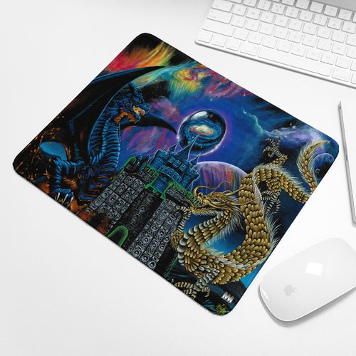Kosmic Dragon Bass Kingdom Mouse Pad