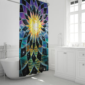 "Sunrise Torus Shower Curtain 72""x72"""