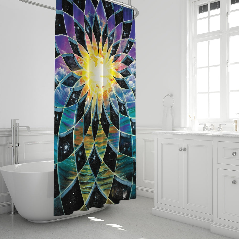 Sunrise Torus Shower Curtain 72