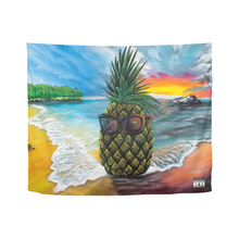 "Load image into Gallery viewer, Pineapple Daze Tapestry 60""x51"""