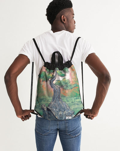 Bonsai Tortoise Canvas Drawstring Bag