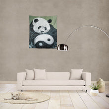 "Load image into Gallery viewer, Morphed Panda Tapestry 51""x60"""