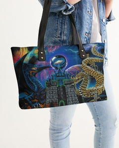 Kosmic Dragon Bass Kingdom Stylish Tote