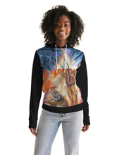 Load image into Gallery viewer, Buddah Tiger Fire Women's Hoodie