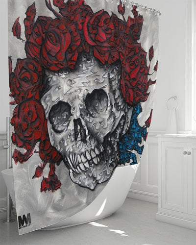 Morphed Bertha shower curtain Shower Curtain 72