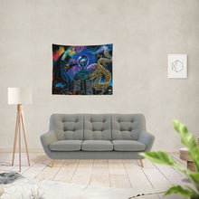 "Load image into Gallery viewer, Kosmic Dragon Bass Kingdom Tapestry 60""x51"""