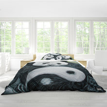 Load image into Gallery viewer, Morphed Panda Queen Duvet Cover Set