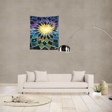 "Load image into Gallery viewer, Sunrise Torus Tapestry 51""x60"""