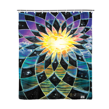 "Load image into Gallery viewer, Sunrise Torus Shower Curtain 72""x72"""