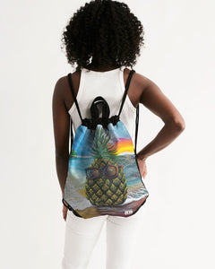 Pineapple Daze Canvas Drawstring Bag
