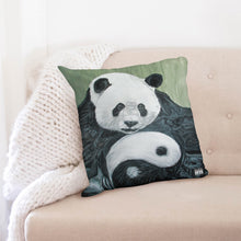 "Load image into Gallery viewer, Morphed Panda Throw Pillow Case 20""x20"""