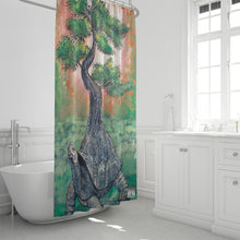 "Load image into Gallery viewer, Bonsai Tortoise Shower Curtain 72""x72"""