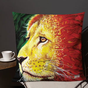 Lions Face Premium Pillow