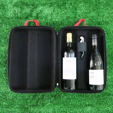 Dual Insulated Wine Bag - Brown