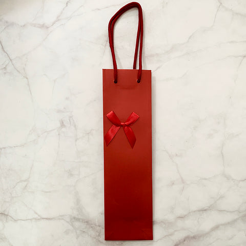 Wine Carrier with Ribbon - Red