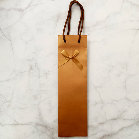 Wine Carrier with Ribbon - Gold