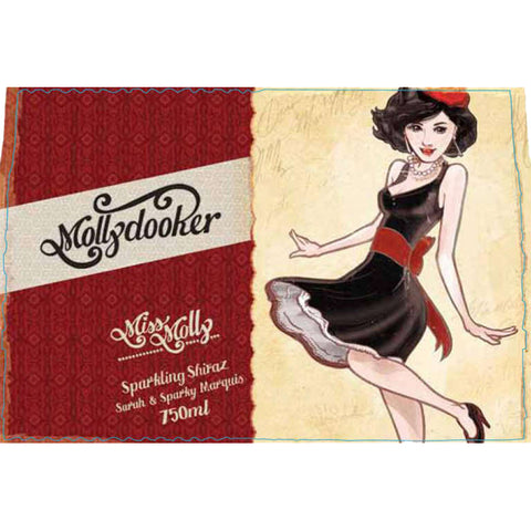 Mollydooker Miss Dolly Sparkling Shiraz label