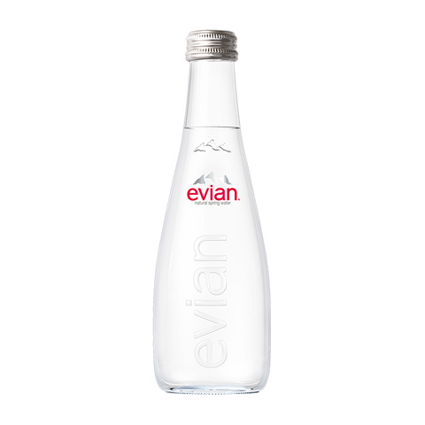 Evian Natural Mineral Water 330ML Glass Bottle x 20