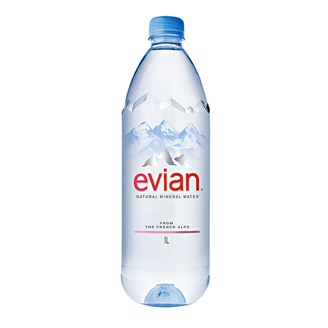 Evian Natural Mineral Water 1000ML PET Bottle x 12