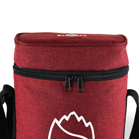 Freshore Insulated Portable Dual Wine Bag - Red