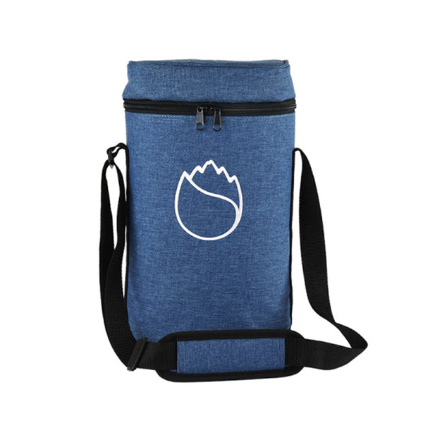 Freshore Insulated Portable Dual Wine Bag - Blue