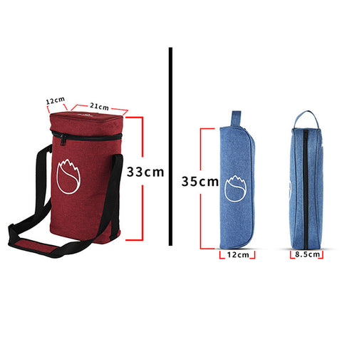 Freshore Insulated Portable Single Wine Bag - Blue