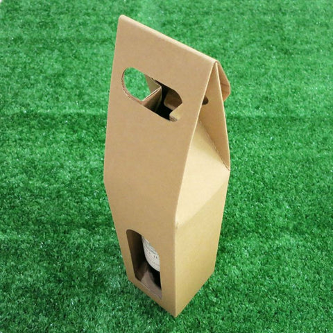Cardboard Single Box Wine Carrier