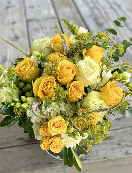 F53 - Summer Vibes Yellow and White Arrangement