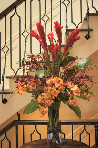 S44 - Modern Exotic Arrangement for Foyer Table - Flowerplustoronto