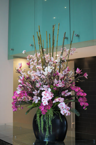 S45 - Modern Exotic Arrangement for Foyer Table - Flowerplustoronto