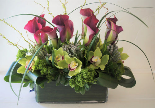 C4- Callas and Cymbidium Orchids - Flowerplustoronto
