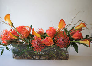 F120 - Shades of Orange Centrepiece - Flowerplustoronto
