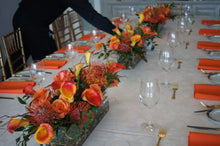 Load image into Gallery viewer, E20 - Shades of Orange Table Centerpieces - Series Design - Flowerplustoronto