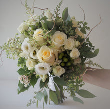 Load image into Gallery viewer, Delicate Gardeny Ivory Hand-tied Bridal Bouquet - Flowerplustoronto
