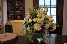 Load image into Gallery viewer, Rustic White and Green Main Reception Arrangement - Flowerplustoronto