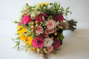 Rustic Country Hand-tied Bridal Bouquet - Flowerplustoronto