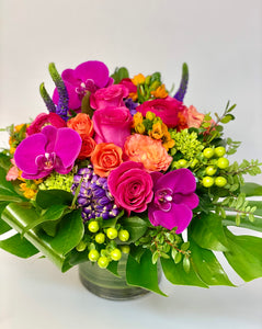 F192 - Modern and Vivid Vase Arrangement - Flowerplustoronto