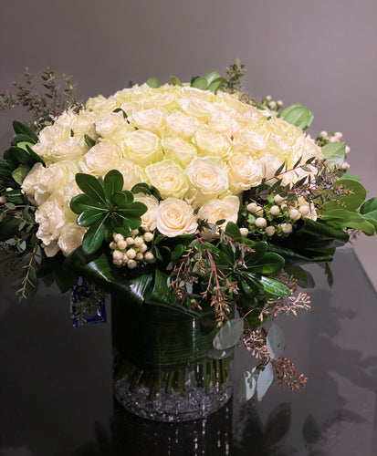 V2 - Luxurious Rose Nosegay Arrangement - Flowerplustoronto