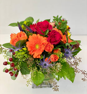 F71 - Classic Bright Coloured Vase Arrangement - Flowerplustoronto