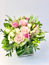 Load image into Gallery viewer, F118 - White and Pink Vase Arrangement - Flowerplustoronto