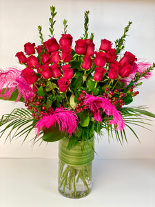 F42 -  My One and Only - Classic Rose Arrangement (36 Roses) - Flowerplustoronto