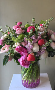 F171 - Gardeny pastel arrangement of peonies - Flowerplustoronto